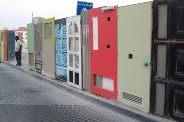 Door Art Installation : Art colors of bahrain